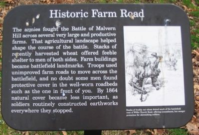 Historic Farm Road Marker image. Click for full size.