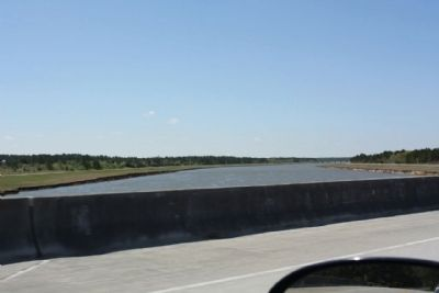 DeWitt Williams Bridge crossing a diversion canal, Lake Moultrie image. Click for full size.