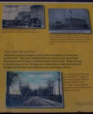 The Mayesville Story Marker image. Click for full size.