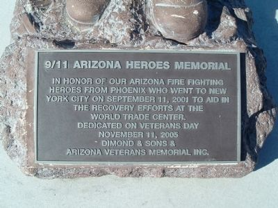 9/11 Arizona Heroes Memorial Marker image. Click for full size.