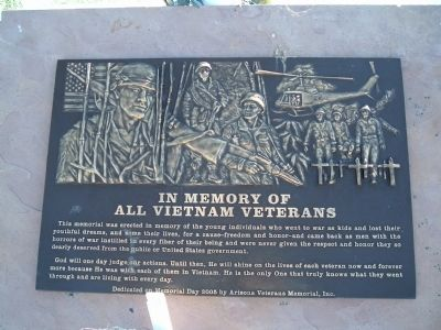 In Memory of All Vietnam Veterans Marker image. Click for full size.