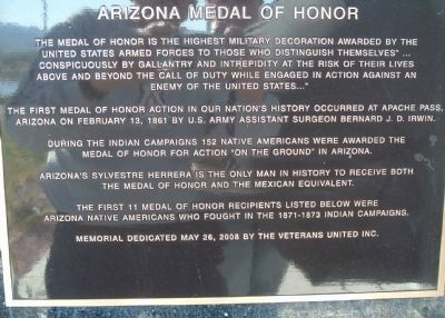 Arizona Medal of Honor Marker image. Click for full size.