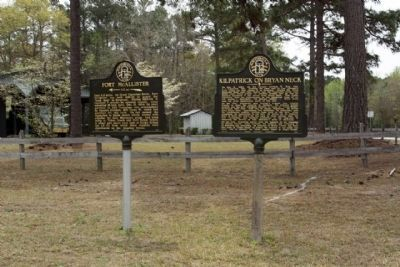 Kilpatrick on Bryan Neck Marker, right, shares location with Fort McAllister Marker image. Click for full size.