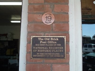 The Old Brick Post Office Marker image. Click for full size.