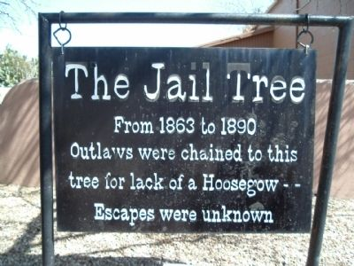 The Jail Tree Marker image. Click for full size.