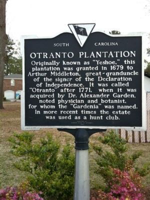 Otranto Plantation Marker image. Click for full size.