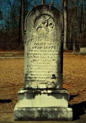 Sarah Scott Tombstone image. Click for full size.