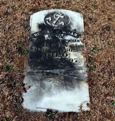 Robert B. Wham Tombstone image. Click for full size.