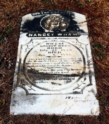 Nancey Wham Tombstone image. Click for full size.