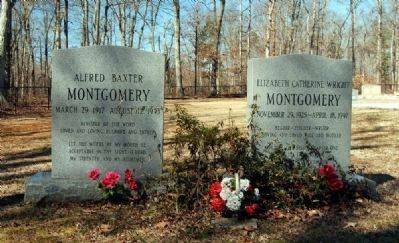 Alfred B. and Elizabeth C.W. Montgomery Tombstones image. Click for full size.