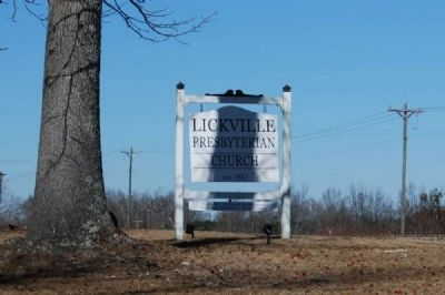 Lickville Presbyterian Church Sign image. Click for full size.