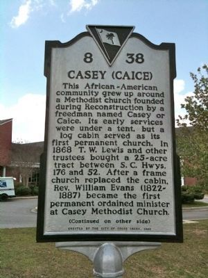 Casey (Caice) Marker (front) image. Click for full size.