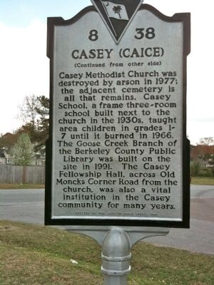 Casey (Caice) Marker (reverse) image. Click for full size.