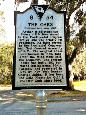 The Oaks Marker (reverse) image. Click for full size.