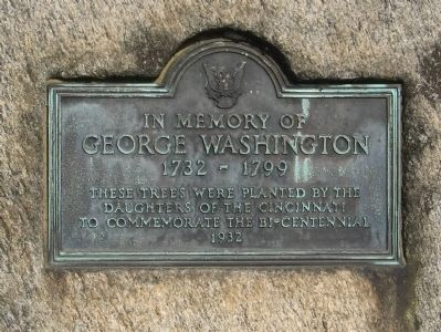 In Memory Of George Washington Marker image. Click for full size.