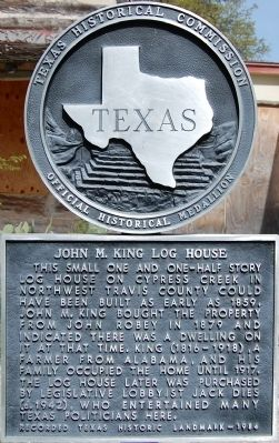 John M. King Log House Marker image. Click for full size.