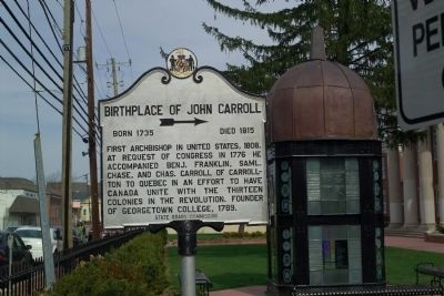 Birthplace of John Carroll Marker image. Click for full size.