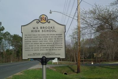 W. S. Brooks High School Marker image. Click for full size.