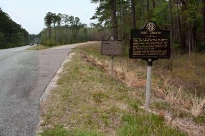 Fort Argyle Marker, shares location with Hazen's Division Marker, at junction Ga 144 and 67 image. Click for full size.