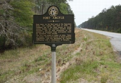 Fort Argyle Marker, looking south along State Road 144 image. Click for full size.