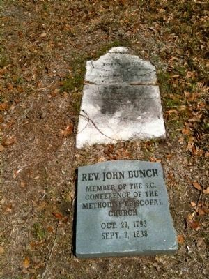 Grave of Reverend John Bunch image. Click for full size.