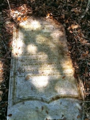 Grave of Reverend William J. Hutson image. Click for full size.