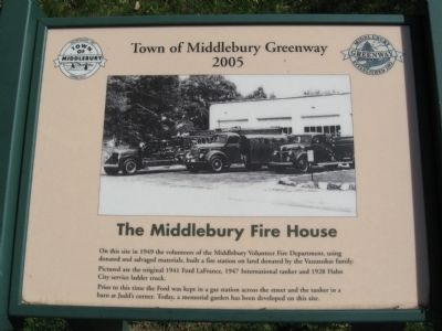 The Middlebury Fire House Marker image. Click for full size.
