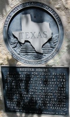 Reuter House Marker image. Click for full size.