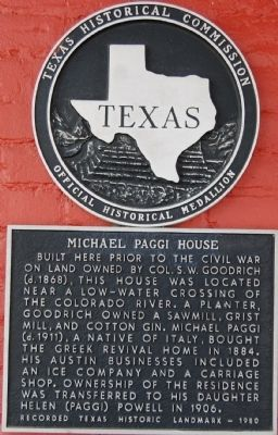 Michael Paggi House Marker image. Click for full size.