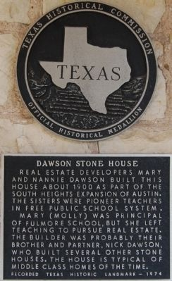 Dawson Stone House Marker image. Click for full size.