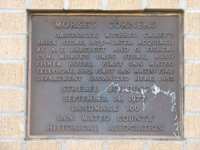 Morse's Corners Marker image. Click for full size.