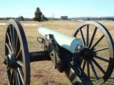 Cannon With Henry Hill House & Marker In Background image. Click for full size.