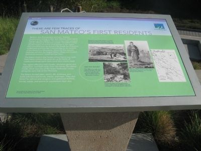San Mateo's First Residents Marker image. Click for full size.