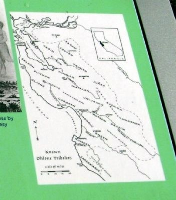 Map of the Ohlone Villages Displayed on Marker image. Click for full size.