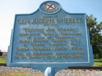 Home of Gen. Joseph Wheeler Marker image. Click for full size.