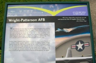 Wright-Patterson AFB Marker image. Click for full size.