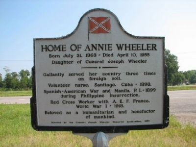 Home of Annie Wheeler Marker image. Click for full size.