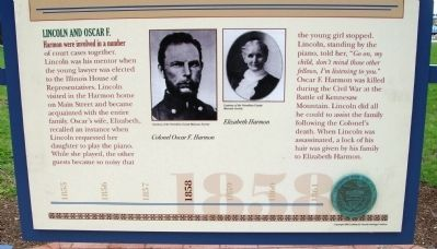 Bottom Section - - Lincoln's Danville Friends Marker image. Click for full size.