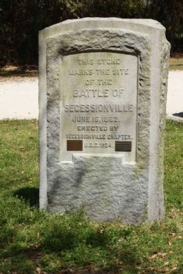 Battle of Secessionville Marker, 2010 image. Click for full size.