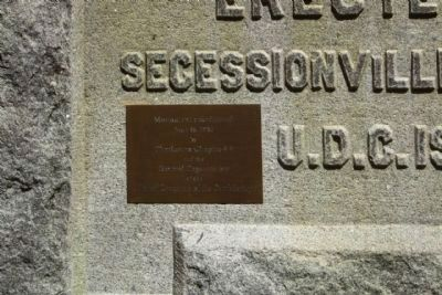 Battle of Secessionville Marker - small left side plaque image. Click for full size.