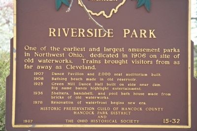 Riverside Park Marker image. Click for full size.