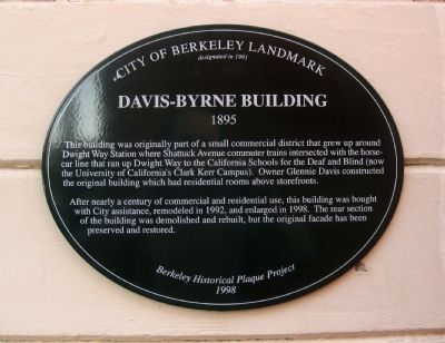 Davis-Byrne Building Marker image. Click for full size.