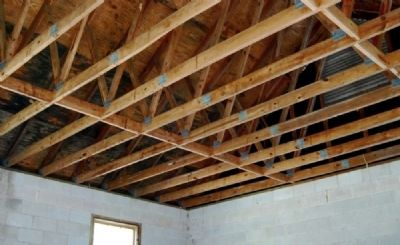 Cokesbury Village -<br>Mt. Arial Church Ceiling Timbers image. Click for full size.