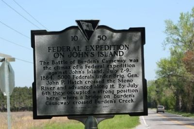 Federal Expedition on John's Island Marker image. Click for full size.