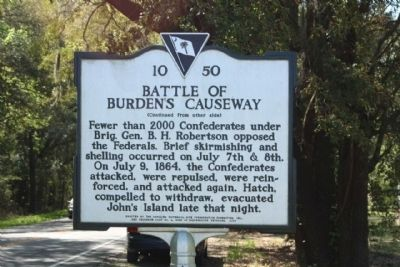 Battle of Burden's Causeway Marker image. Click for full size.