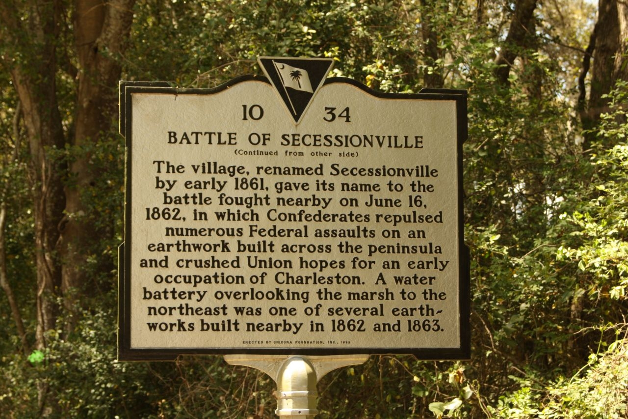 Battle of Secessionville Marker