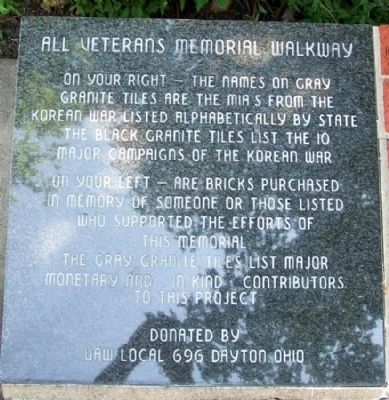 All Veterans' Memorial Walkway image. Click for full size.