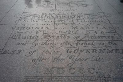Freedom Plaza - inscription at east end image. Click for full size.
