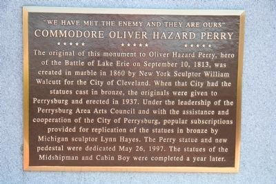 Commodore Oliver Hazard Perry Marker image. Click for full size.