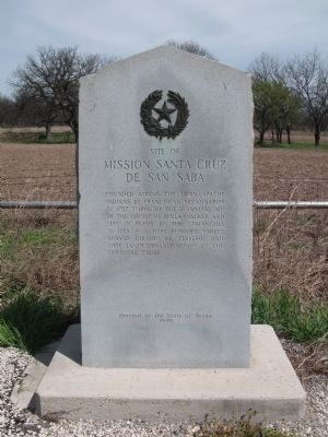 Site of Mission Santa Cruz de San Saba Marker image. Click for full size.